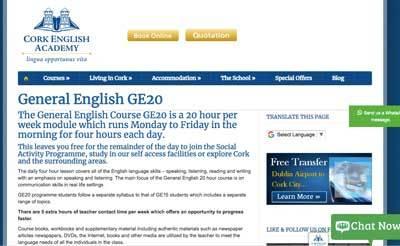 English Schools in Cork, Ireland
